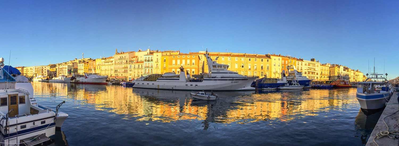 Le port de Sète en fin d'après midi