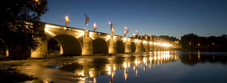 Pont Wilson de nuit - Centre ville de Tours
